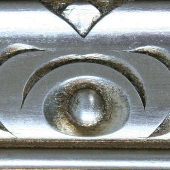 divano classico finitura in argento foglia
