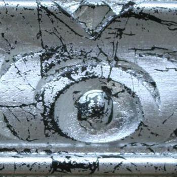 divano classico finitura in argento fondo wengè