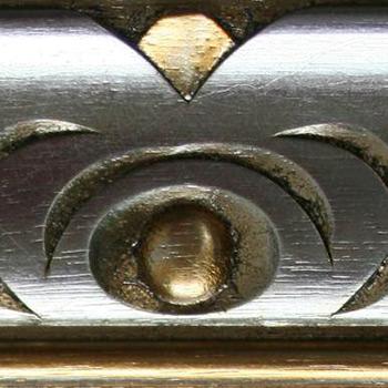 divano classico finitura in argento mecca