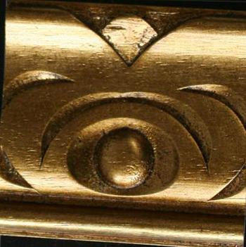 divano classico finitura in oro patinato