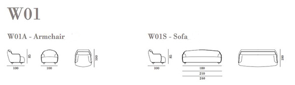 misure divano W01